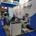Stanowisko wystawowe z urządzeniami medycznymi